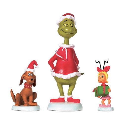 Department 56 Grinch Max & Cindy-Lou Who
