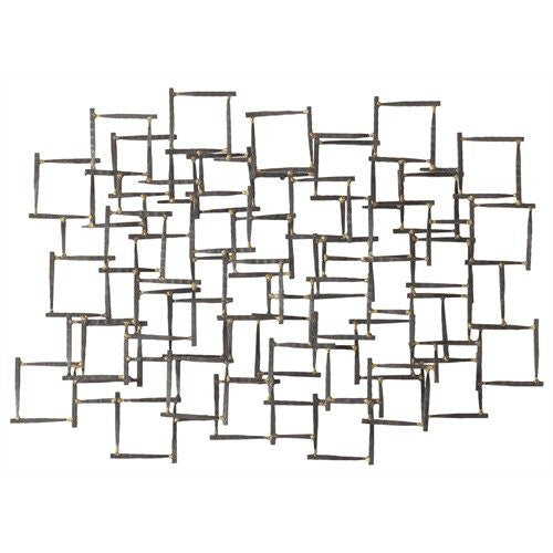 Ecko Wall Sculpture, Natural Iron/Brass Welds