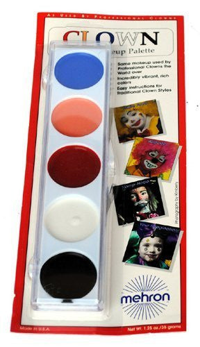 5 Color Clown Cream Palette