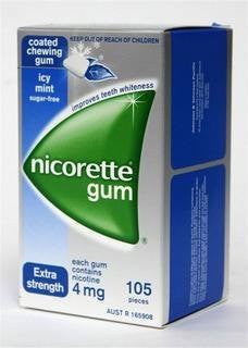 Nicotine Gum 4mg, 105 pcs. - Icy Mint Flavor (Pack of 3)