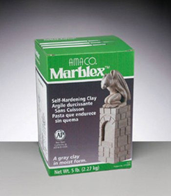 Amaco - Marblex Self-Hardening Clay 5 Pounds - Gray