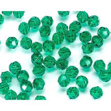Faceted Plastic Beads - Transparent Christmas Green - 6mm - 480 pieces