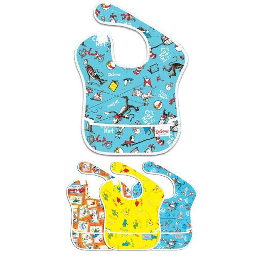 Bumkins Cat in The Hat Superbib with Dr. Seuss Assortment Superbib 3-Pack