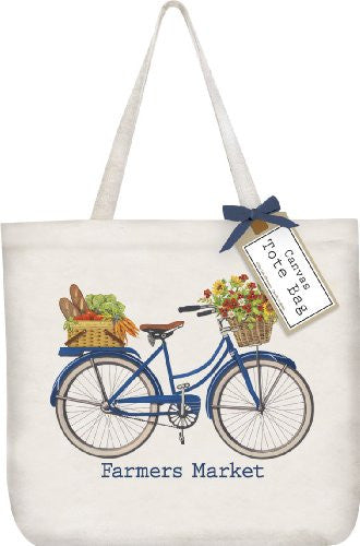 Bike Canvas Tote Bag
