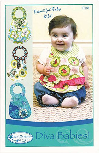 Vanilla House Patterns - Diva Babies! Beautiful Baby Bibs!