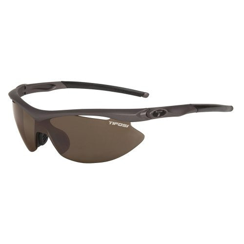 Tifosi Women's Slip Shield Sunglasses (Black / Brown / Ac Red / Clear)