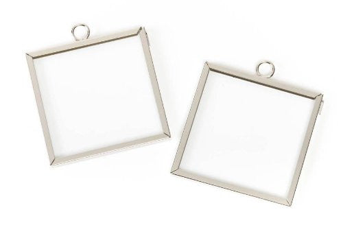 Frame Charms - Silver - Square - 2 x 2 inches