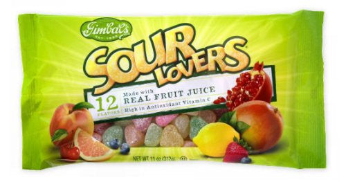 NEW SOUR LOVERS 11oz BAG 12ct GIMBAL'S - Package