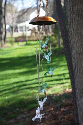 Solar Mobile Painted Hummingbird