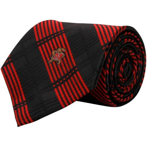 Maryland Terrarpins Tie Woven Plaid
