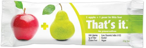 That's it. Apple Pear Fruit Bar (12x1.2 OZ)