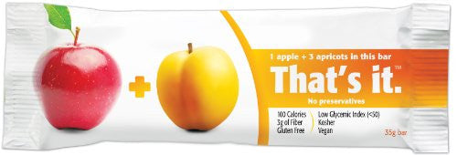 That'S It. Apple Apricot Fruit Bar (Pack of 12)