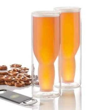 Australian Beer Glass - Frosted - 16oz - Set of 2
