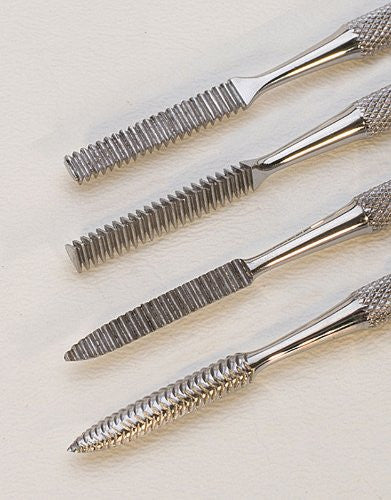 4 PC WAX CARVING FILE SET