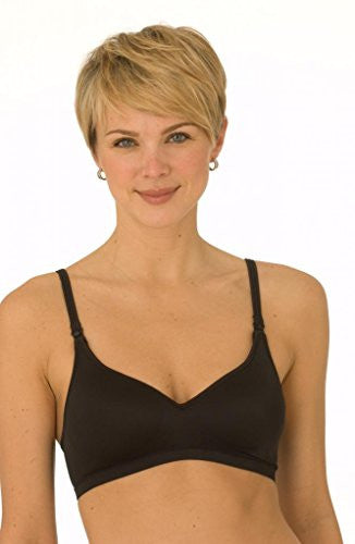 La Leche League Soft Cup Padded Bra (4214) 32D/Black
