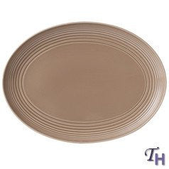 MAZE TAUPE OVAL PLATTER 17""