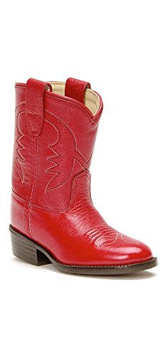 Children's & Youth's Western Boots, Red 8 D