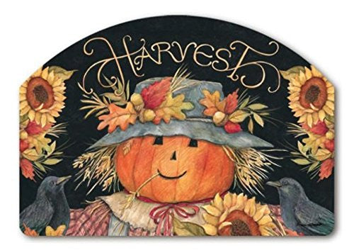 "Harvest Scarecrow Yard Design, 14"" x 10"""