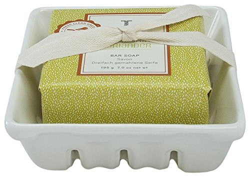Thymes Mandarin Coriander Bar Soap & Dish Set