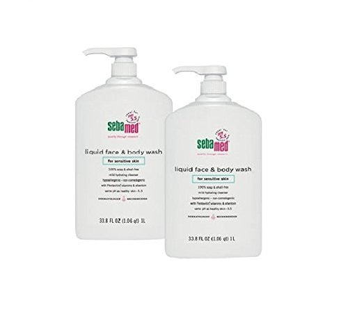 Sebamed Liquid Face and Body Wash 1 Liter w/ pump