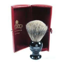 Black Traditional Medium Pure Gray Badger Shave Brush - BLK2 by Kent