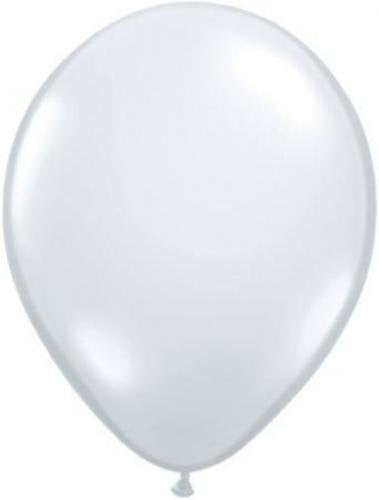 "11"" Diamond Clear Qualatex Jewel Tone Latex 25ct"
