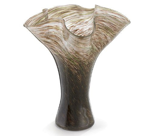"VASE GLASS 10"" BROWN"