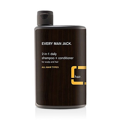 EVERY MAN JACK Hair Daily Shampoo, 2 in 1, Citrus - 13.5 oz