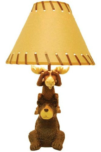 Woodi Bear/Maxim Moose Lamp