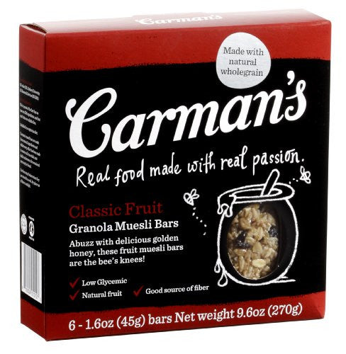 Carmans Fruit Muesli Bars 9.52 OZ