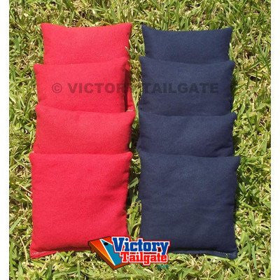 Standard Corn-Filled Bag set Colors: Red and Navy Blue