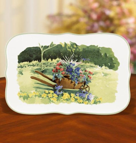 FLORAL MEADOW RECT TRAY