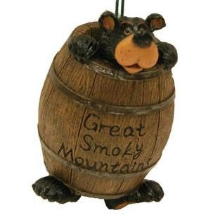 Willie Bear In Barrel Great Smoky Mountains Ornament