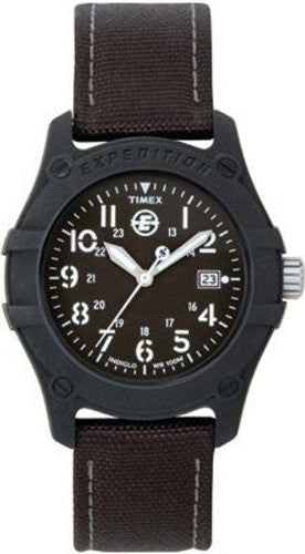 Men's Expedition Camper Black Canvas Band Watch