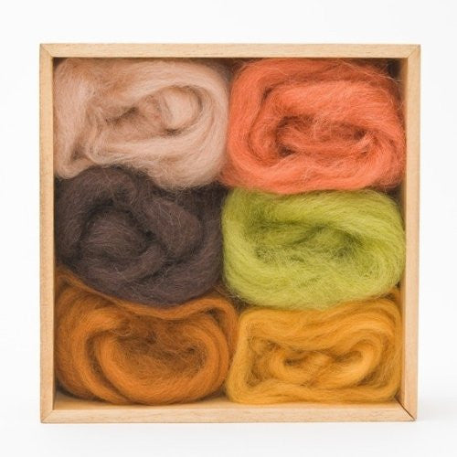 Multi-color Wool Roving Pack - Earth