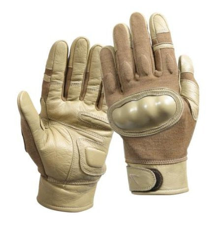 Rothco Coyote Cut/Heat Resistant Hard Knuckle Tactical Gloves - Large