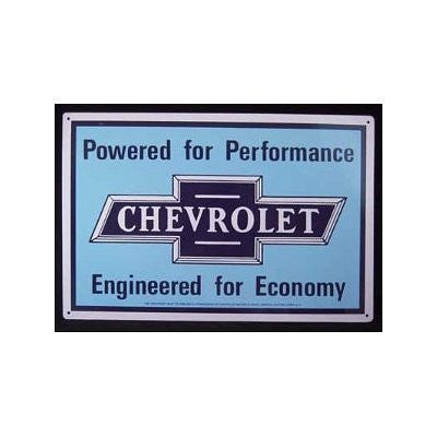 Tin Sign: Chevrolet Powered for Performance