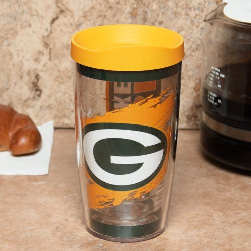 NFL Green Bay Packers Wrap with Lid 16oz Tumbler
