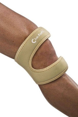 Cho­Pat Dual Action Knee Strap TAN­Large, 16in­18in (POLY BAG)