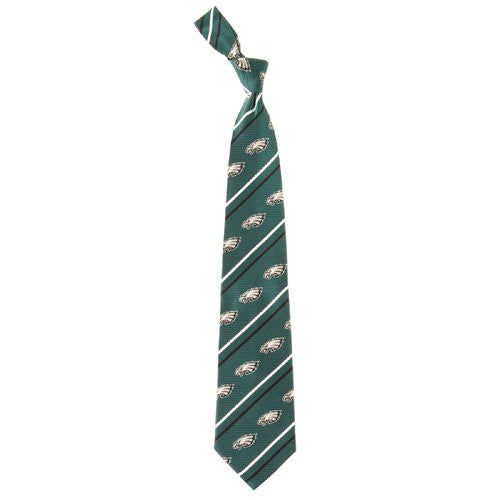 Philadelphia Eagles Tie Cambridge Stripe Woven Silk