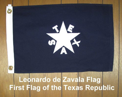 Lorenzo De Zavala Cotton Flag - 3'x5'