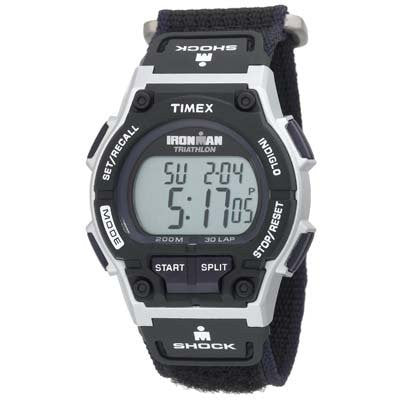 Men's Ironman Triathlon Shock 30 Lap Velcro Band Watch