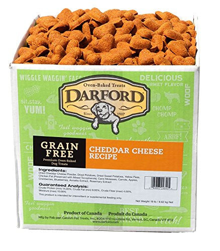 DARFORD Naturals Cheddar Cheese Treats for Pets, 20-Pound