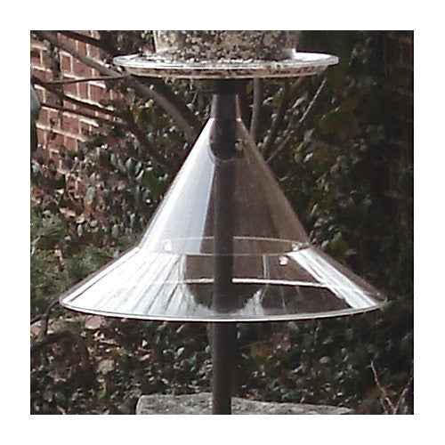 "Arundale Squirrel Away Pole Baffle, Clear, 17"" dia."