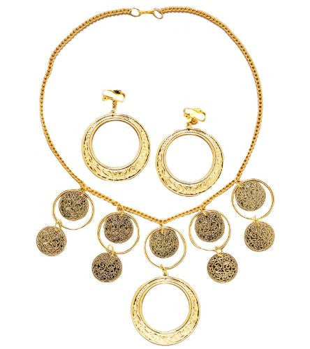Goldtone Necklace and Earrings Set
