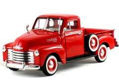 Signature Models - Chevy Pickup Truck (1953, 1/32 scale diecast model car, Red)