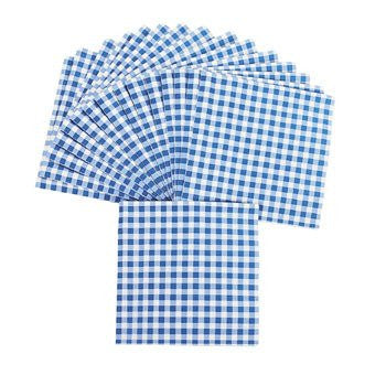 Blue Gingham Luncheon Napkins 48-pc