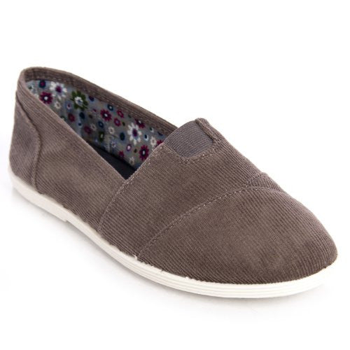 Soda Women Object Flats-Shoes,7.5 B(M) US,Gray Corduroy