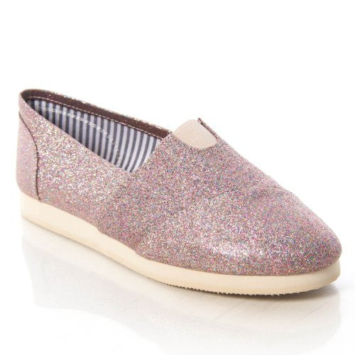Soda Women Object Flats-Shoes,5.5 B(M) US,Multi Glitter