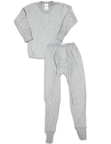 BOYS 5.0 OZ. 65/35 COTTON/POLY HEATHER GREY - SET, Large